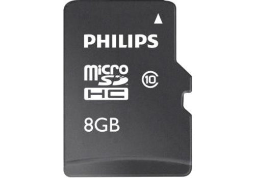 Philips Micro SDHC geheugenkaart met adapter (Cl.10-8GB)
