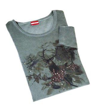 Almgwand Shirt Joglland Groen Maat 2XL