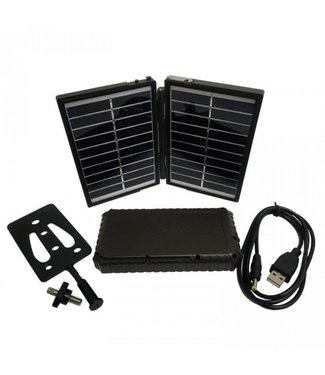 Boly Media Wildkamera Solar Panel Ladegerät und 7200mAh Power Bank