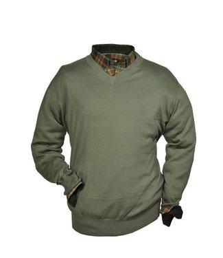Hubertus Pullover V-Auschnitt