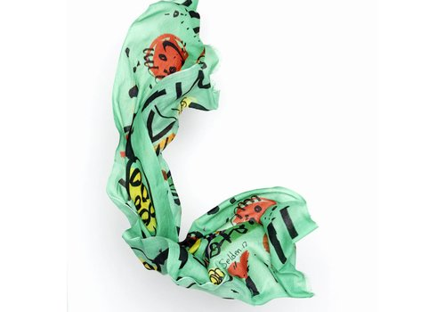 Bruna Scarf by Selden Pistachio Green