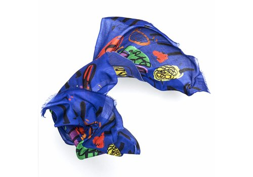 Bruna Scarf by Selden Royal Blue