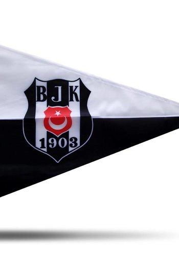 BJK bootsflagge logo schwarz weiß 40*60