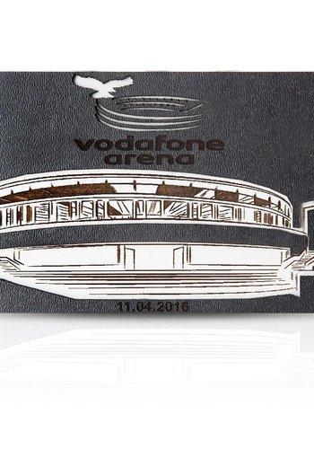 BJK vodafone arena wooden magnet