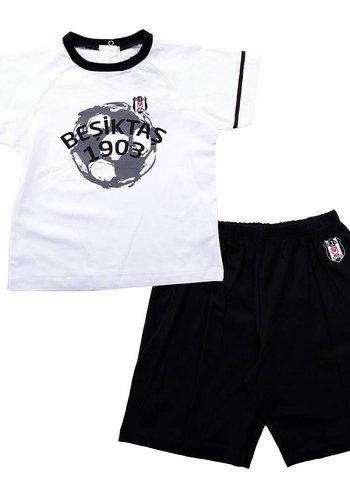 BJK tweedelig pak met short baby 01 zwart