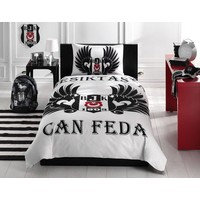 3607- BJK bed clothes set 1 person 'parlayan kartal'