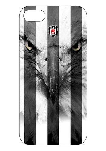 BJK iphone 7 / iphone 8 gestreift schwarzer Adler Handyhülle