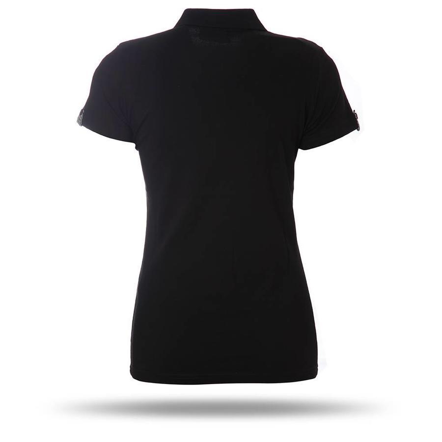 8717156 polo T-shirt dames zwart