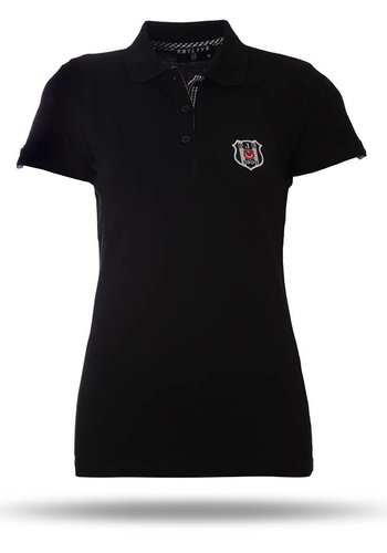 8717156 polo t-shirt damen schwarz
