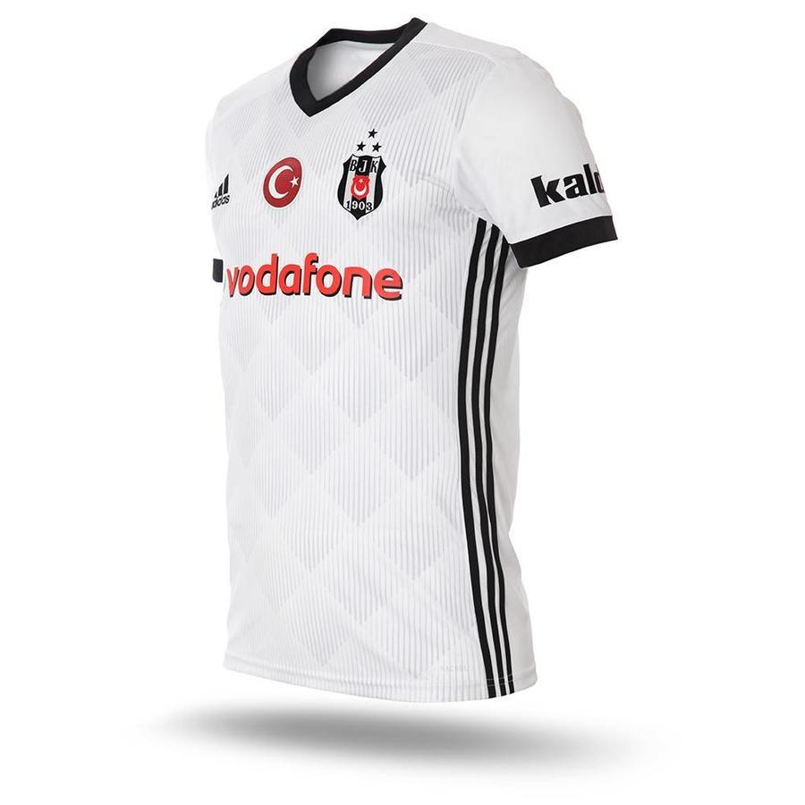 Beşiktaş Adidas voetbalshirt 17-18 wit