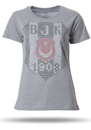 K8718112 BJK WOMENS T-SHIRT GREY