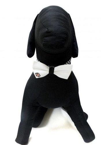 BJK Cat / Dog Bow tie White ML
