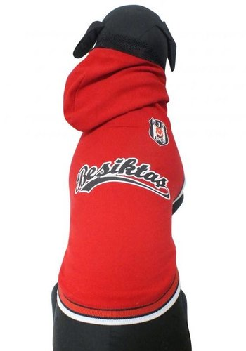 BJK Huisdier hooded t-shirt rood