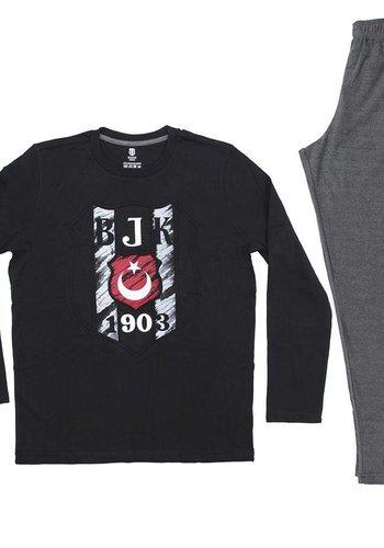 Pyjama Herren schwarz L9401