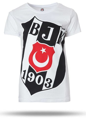 Beşiktaş T-shirt korte mouwen dames wit 8718110