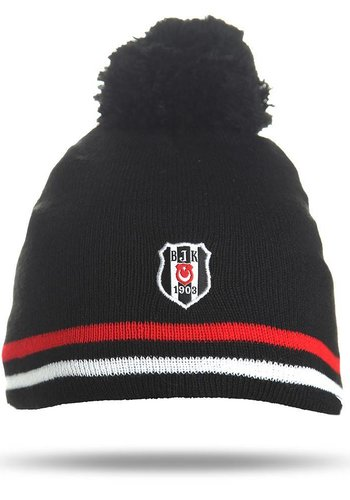 Beşiktaş Kinder Mütze 03 schwarz