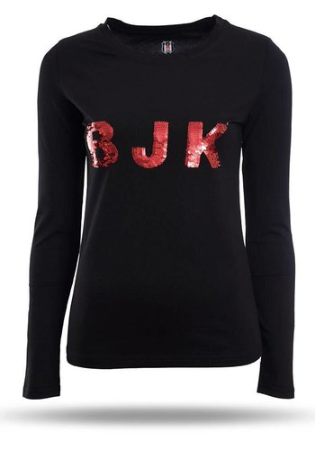 Beşiktaş T-shirt Dames 8718123 Zwart - Rood