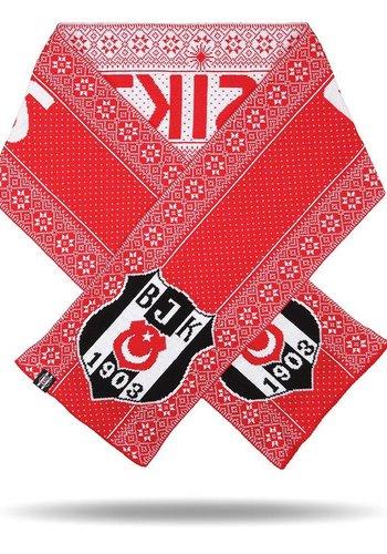 Beşiktaş Schal Neujahr gestrickt