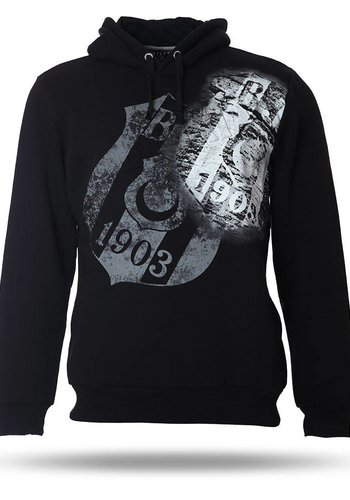 Beşiktaş Hooded Sweater Heren K7718291 Zwart