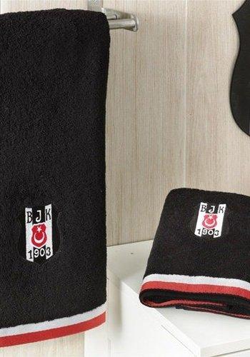 7828 - Beşiktaş 70*140 Handtuch Schwarz