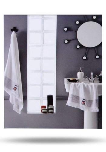 Beşiktaş White Face Towel