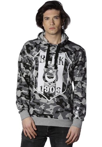 Beşiktaş mens camouflage hooded sweater 7818203