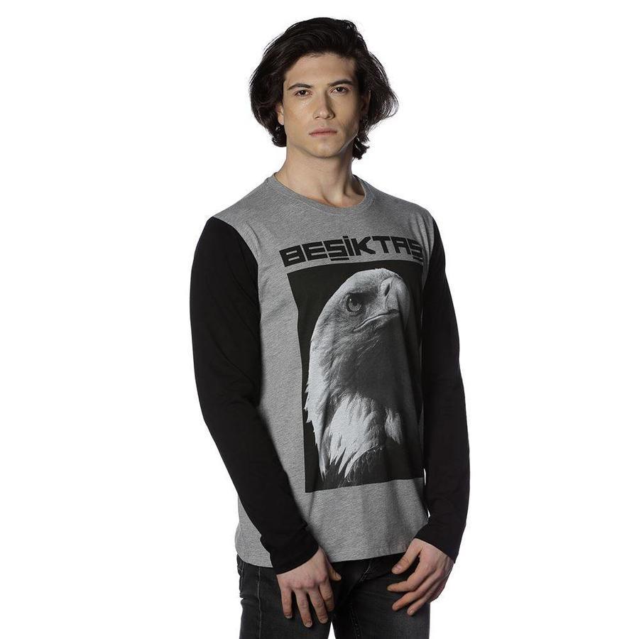Beşiktaş gewassen t-shirt lange mouwen heren 7818159