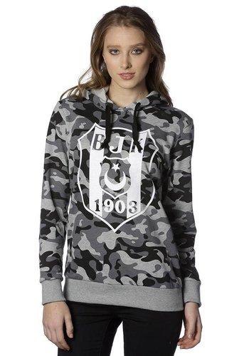 Beşiktaş womens camouflage hooded sweater 8818203