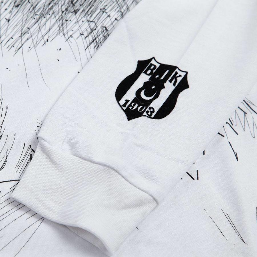 Beşiktaş Kids Charcoal Drawing Sweater 6818211