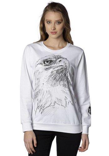 Beşiktaş Womens Charcoal Drawing Sweater 8818211