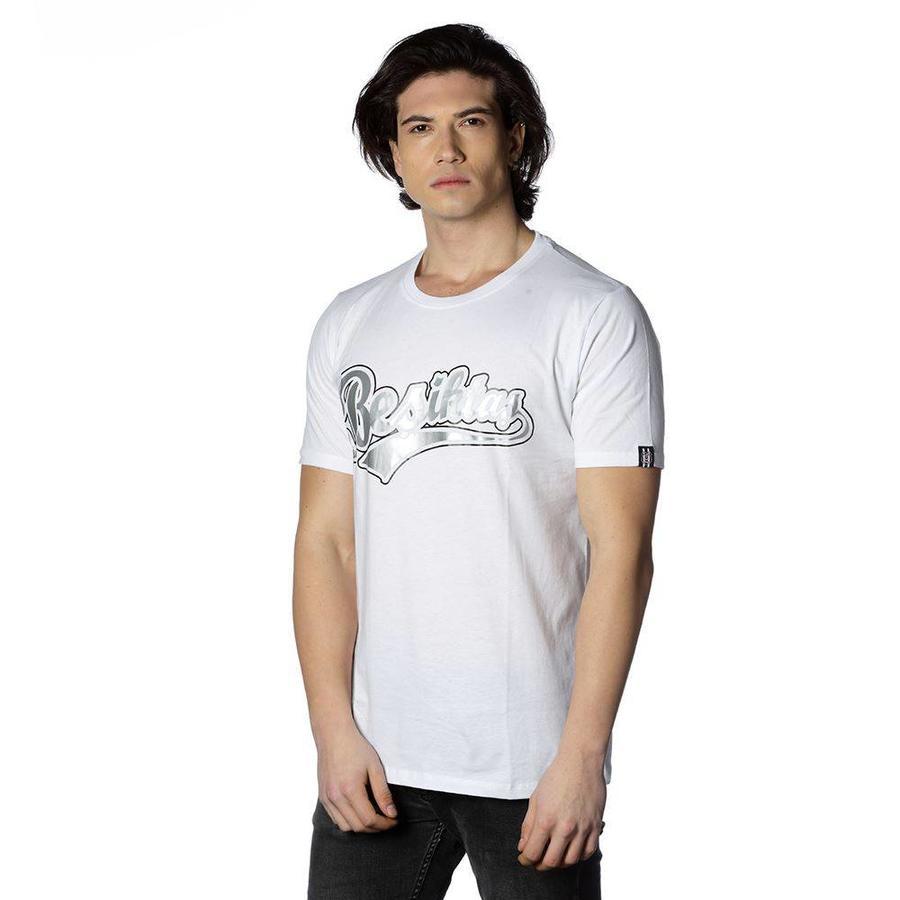 Beşiktaş College T-Shirt Speziell bedruckt Herren 7818103 Weiβ