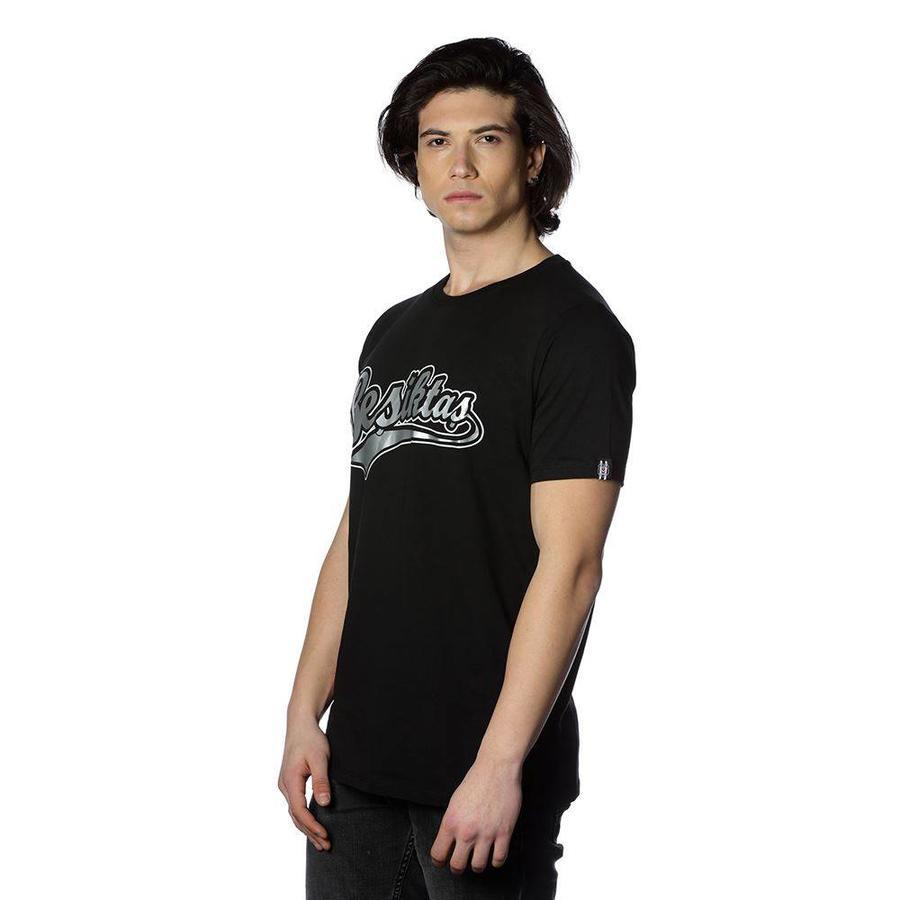 Beşiktaş College T-Shirt Speziell bedruckt Herren 7818103 Schwarz