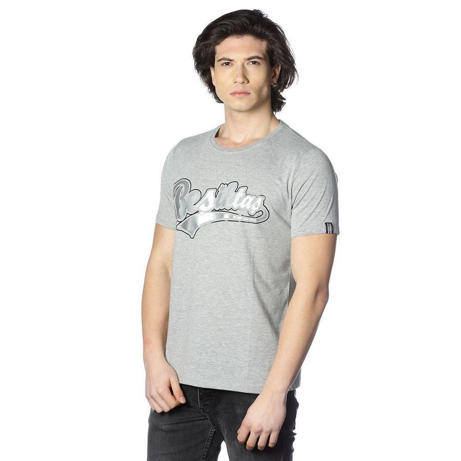 Beşiktaş College T-Shirt Speziell bedruckt Herren 7818103 Grau