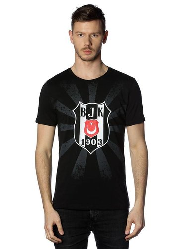 Beşiktaş Mens Sun Logo T-Shirt 7818107 Black