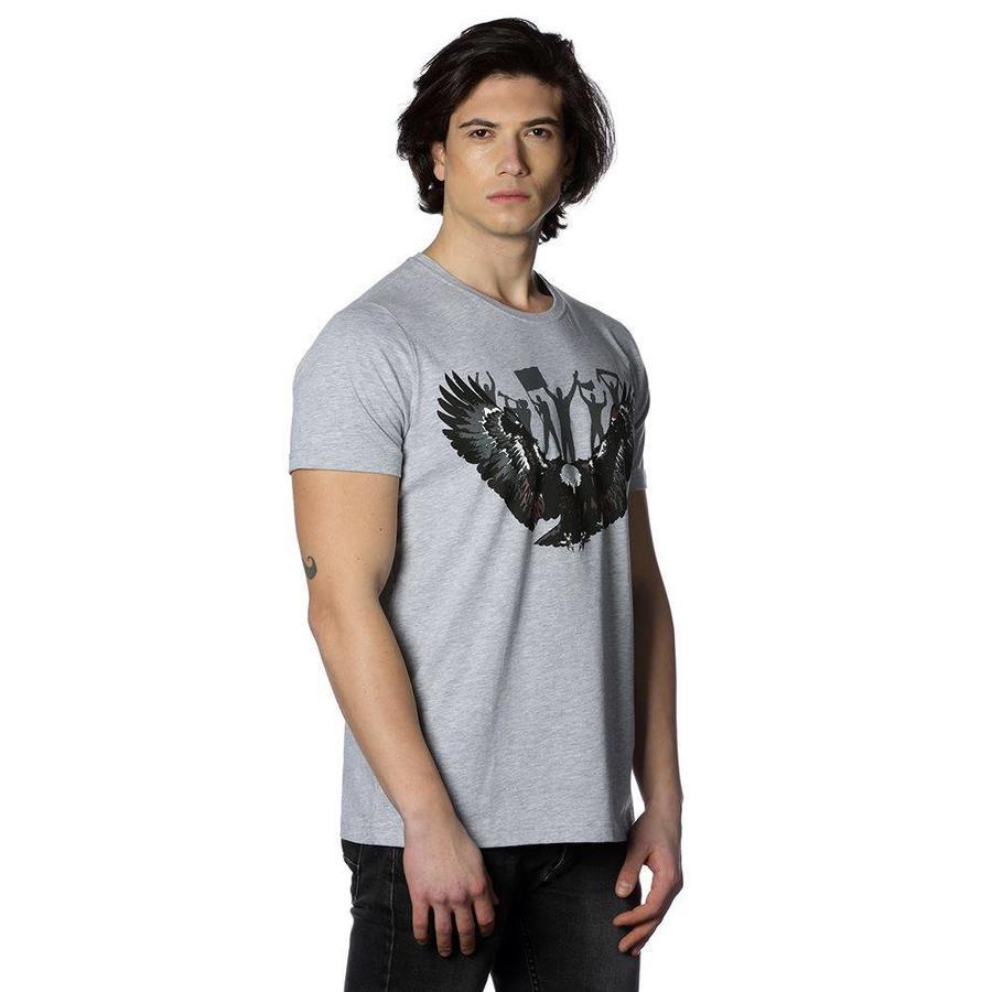 Beşiktaş Eagle Fan T-Shirt 7818118 Grey