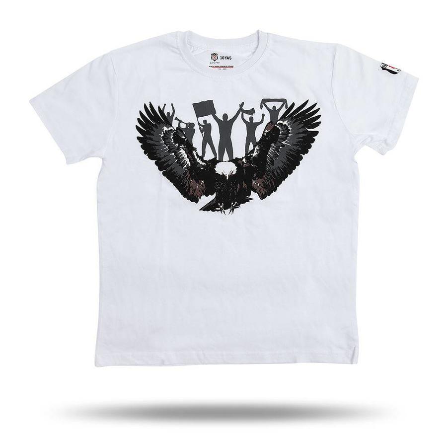 Beşiktaş Adler Fan T-Shirt Kinder 6818118 Weiβ