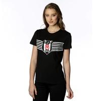 Beşiktaş Overwinning Logo T-Shirt Dames 8818114 Zwart