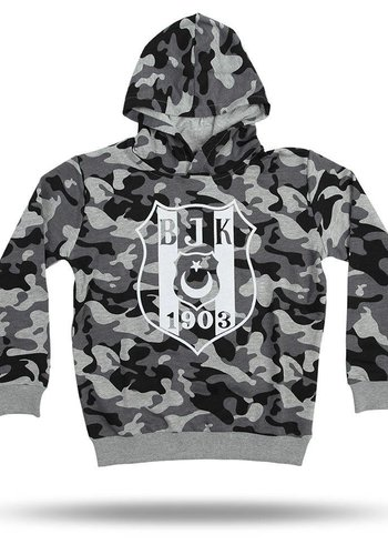 Beşiktaş kids camouflage hooded sweater 6818203