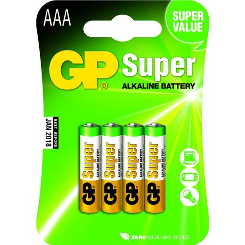 GP Super Alkaline AAA blister 4 stuks