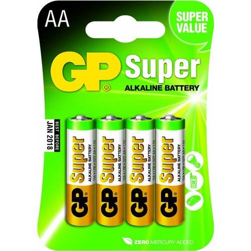 GP Super Alkaline AA blister 4 stuks