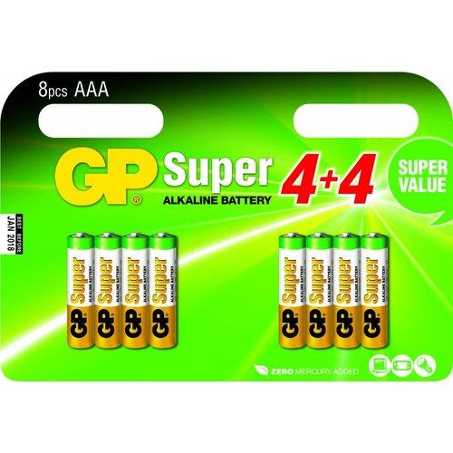 GP Super Alkaline AAA blister 8 stuks