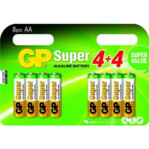 GP Super Alkaline AA blister 8 stuks