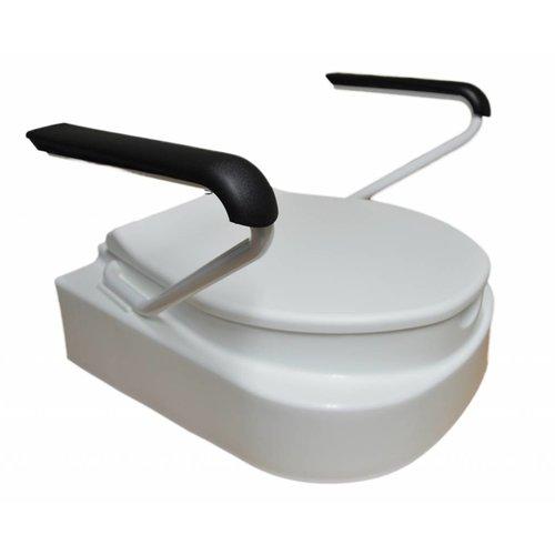 Verstelbare toiletverhoger met deksel en armsteunen
