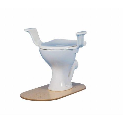 Toiletzitting met brilverkleiner met deksel en armsteunen