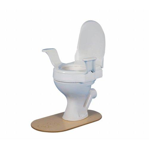 Toiletverhoger 10 cm Met deksel en armsteunen