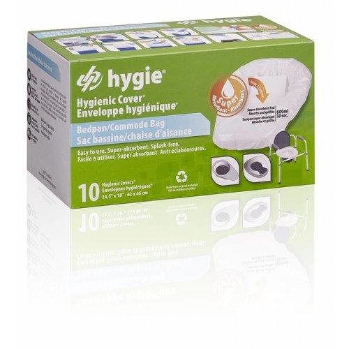 Toiletemmer/ Bedpan-zakken (10 stuks per doosje)