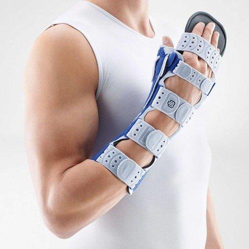 ManuLoc Rhizo Long Plus brace voor immobilisatie van de hand met afneembare vingersteun en duimsteun