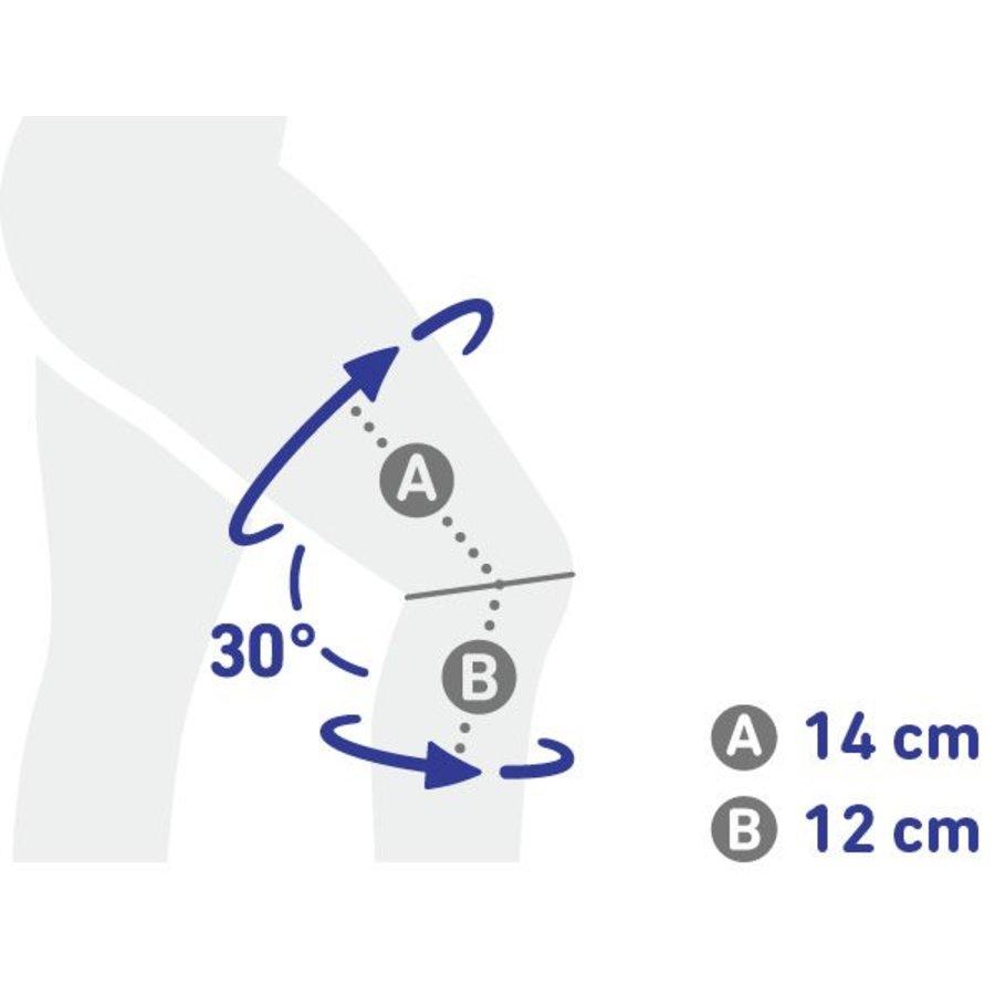 GenuTrain® S actieve kniebandage van het kniegewricht met kniescharnieren Bauerfeind