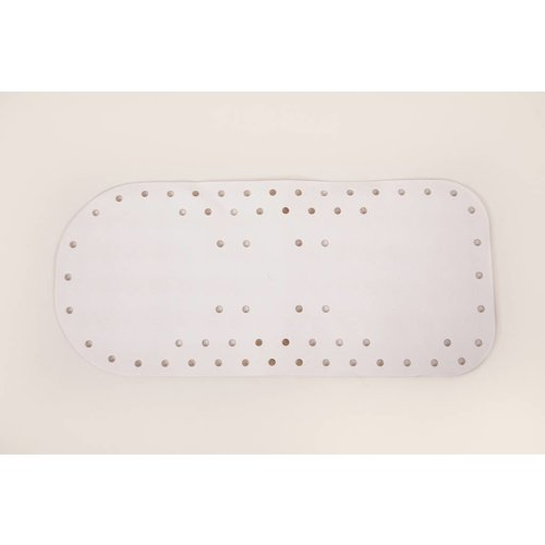 Antislip badmat met zuignapjes  - 75 - 35 cm - Wit
