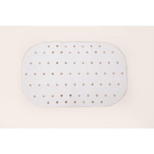 Antislip badmat/douchemat met zuignapjes  - 54 - 35 cm - Wit